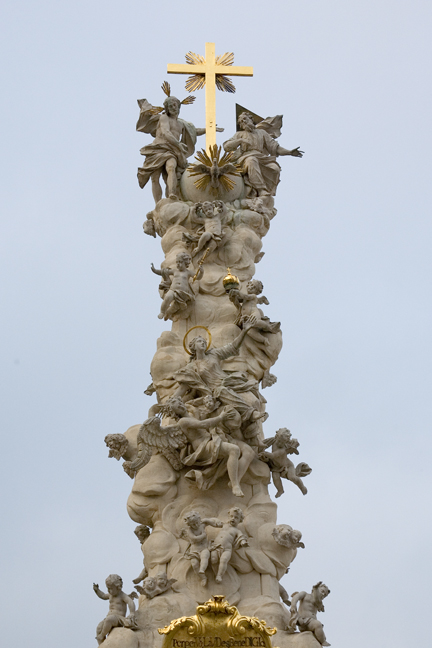 Plague Pillar,Stift Heiligenkreuz near Vienna, Austria, January 2009