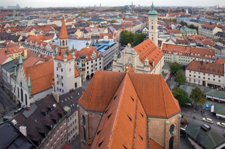 Munich from Peterskirche, Munich, Germany, October 2009