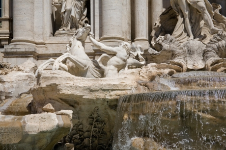 Trevi Fountain, Rome, Italy, May 2009