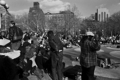 Washington Square, Manhattan, New York, America, April 1995