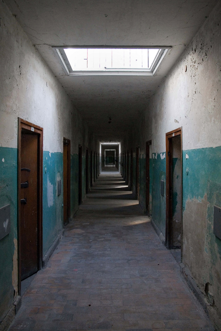 Bunker, East Wing, Dachau, Munich, Germany, October 2009