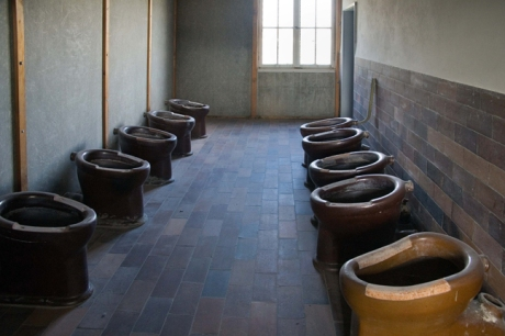 Prisoner Toilets, Dachau, Munich, Germany, October 2009
