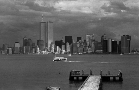 Manhattan from Liberty Island, New York, America, November 1997
