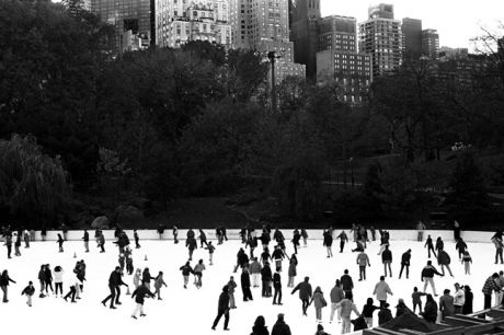 Wollman Rink, Central Park, Manhattan, New York, America, November 1997