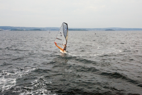 Windsurfer, Oslo Harbour, Oslo, Norway, June 2010