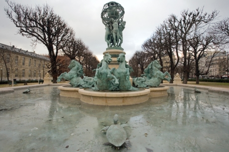 Carpeaux's Fountain, Paris, France, January 2010