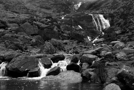 Mahon Waterfall, Comeragh Mountains, Co. Waterford, Ireland, February 2002
