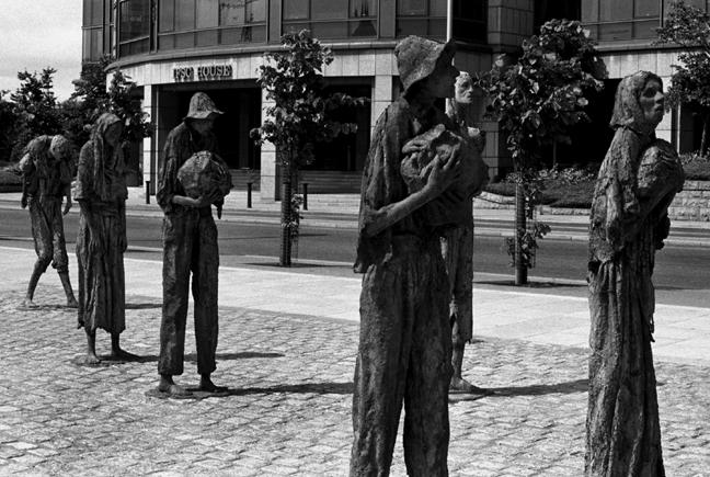 Famine Monument, Custom House Quay, Dublin, Ireland, July 2001
