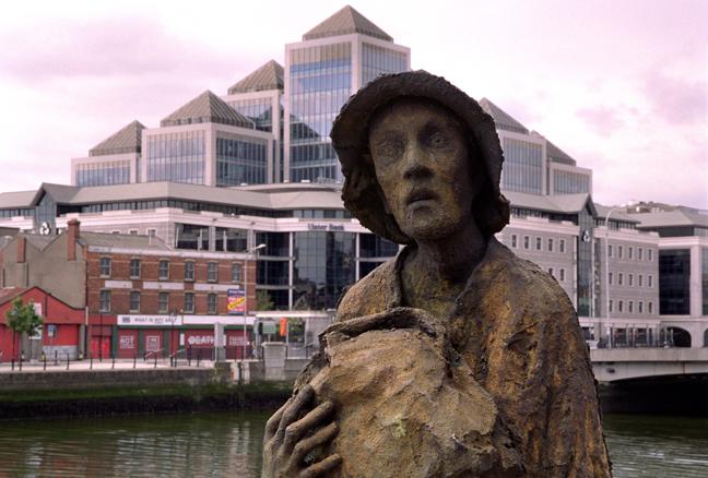 Famine Monument, Custom House Quay, Dublin, Ireland, August 2003
