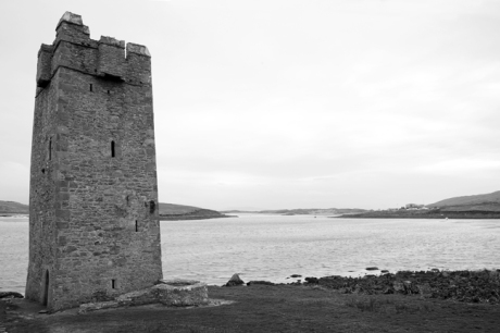 Granuaile's Tower, Kildavnet, Achill Island, Co. Mayo, Ireland, March 2009