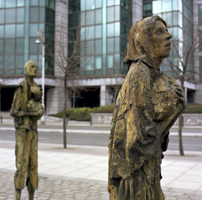 Famine Monument, Custom House Quay, Dublin, Ireland, July 2005