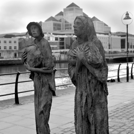 Famine Monument, Custom House Quay, Dublin, Ireland, July 2005