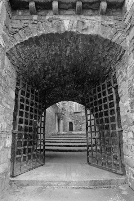 St Audoen's Gate, Cook Street, Dublin, Ireland, August 2010