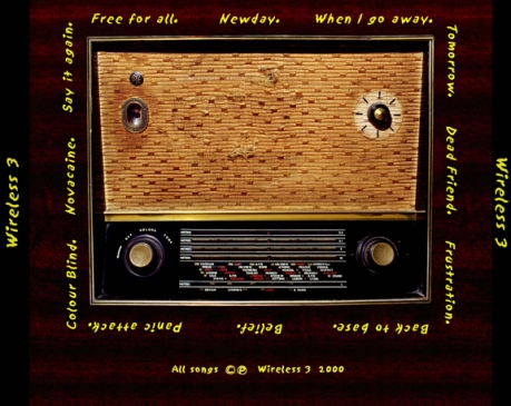 Wireless 3 - First Album Back Cover - 2000