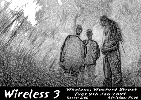 Wireless 3 - Flyer for Whelans Gig - 2001