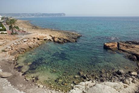 Playa La Caleta,Cala Blanca,Javea, Marina Alta, Spain, June 2012