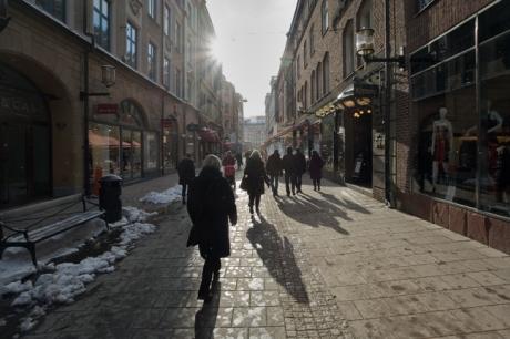 Biblioteksgatan, Stockholm, Sweden, February 2011