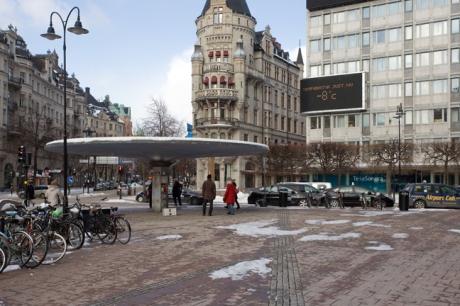 Stureplan, Stockholm, Sweden, February 2011