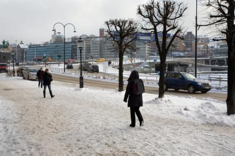 Slussplan, Gamla Stan, Stockholm, Sweden, February 2011