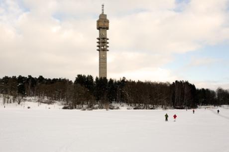 Kaknästornet, Mörka Kroken, Stockholm, Sweden, February 2011