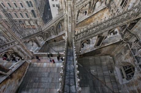 Duomo, Santa Maria Nascente, Milan, Italy, January 2011