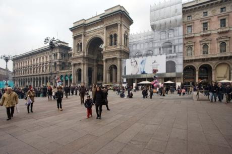 Piazza del Duomo, Milan, Italy, January 2011