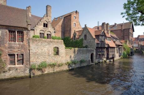 Bonifaciusbrug & Canal, Bruges, Belgium, April 2011