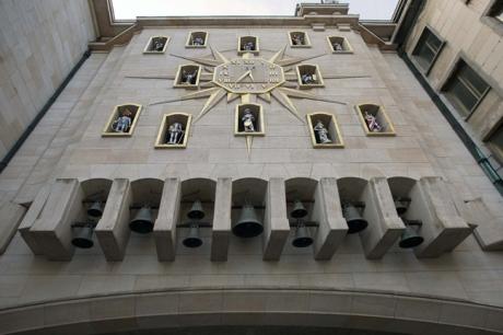 Carillon du Mont des Arts, Brussels, Belgium, April 2011