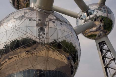 The Atomium, Heysel Park, Brussels, Belgium, April 2011