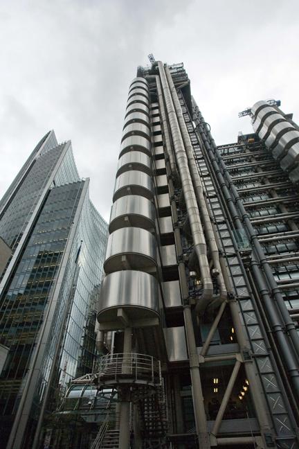 Lloyd's building, Lime Street, London, England, October 2011