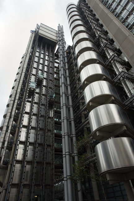 Lloyd's building, Lime Street, London, England, October 2011