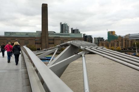 Millennium Footbridge, London, England, October 2011