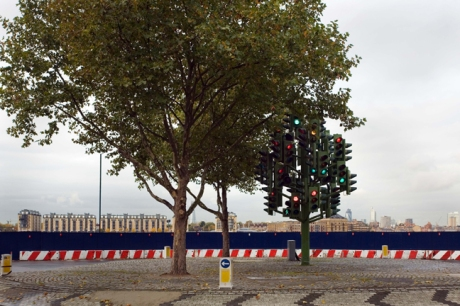 Traffic Light tree, Pierre Vivant, London, England, November 2011