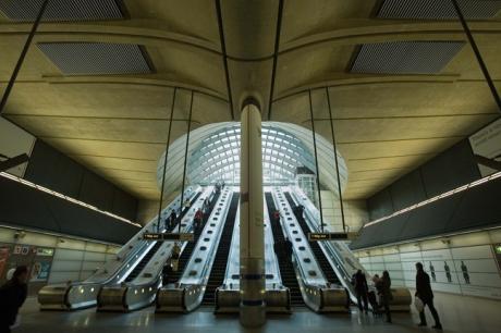 Canary Wharf Tube Station, London, England, November 2011