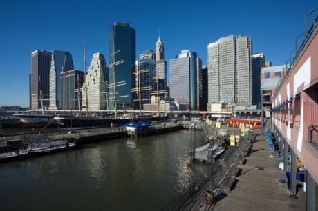 South Street Seaport, Manhattan, New York, America, January 2012