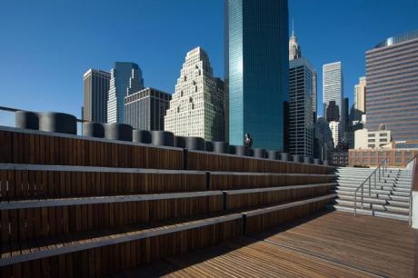 Pier 15, South Street Seaport, Manhattan, New York, America, January 2012