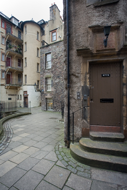 Wardops Court, Old Town, Edinburgh, Scotland, February 2012