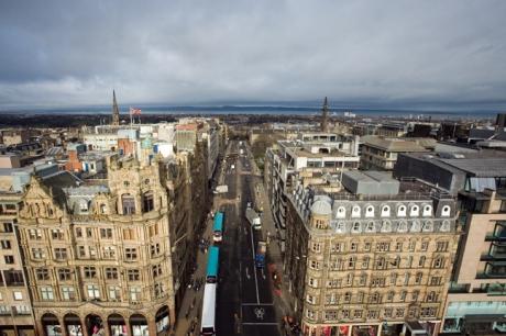 Saint David Street, Edinburgh, Scotland, February 2012