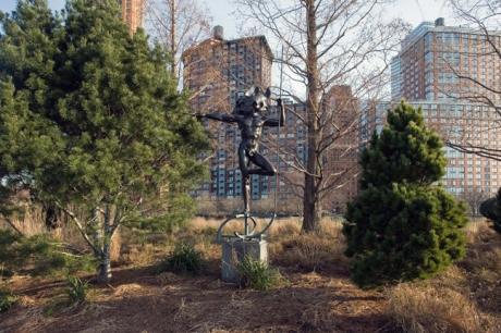 Ulysses,Ugo Attardi,Rockefeller Park, Manhattan, New York, America, January 2012