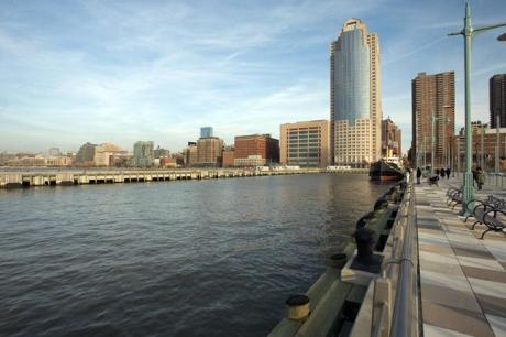 Pier 25, Hudson River Park, Manhattan, New York, America, January 2012