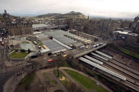 from the Scott Monument, Edinburgh, Scotland, February 2012