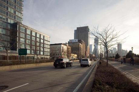 West Street, Manhattan, New York, America, January 2012