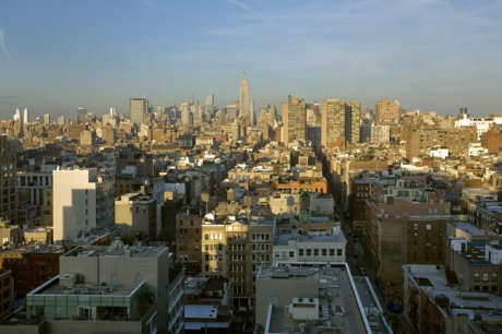 Manhattan from Tribeca, New York, America, January 2012