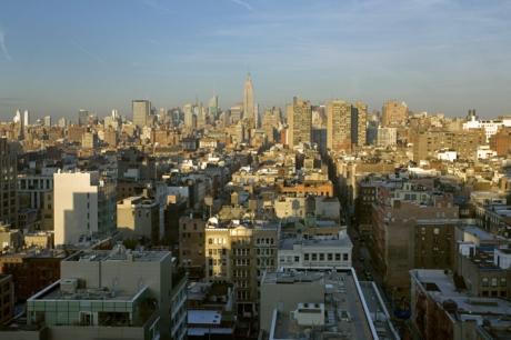 Manhattan from Tribeca, New York, America, January 2012