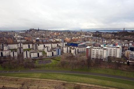 Queen's Drive, Dumbiedykes,  Edinburgh, Scotland, February 2012