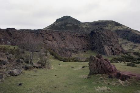 Hutton's Rock, Salisbury Crags, Edinburgh, Scotland, February 2012
