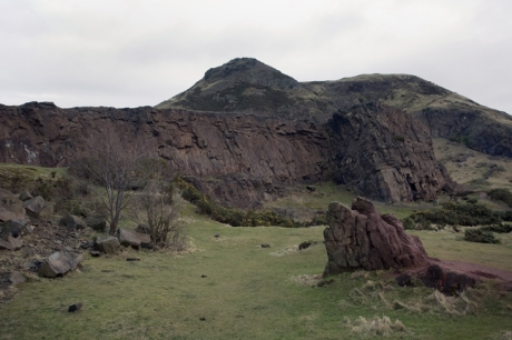 Hutton's Rock, The Salisbury Crags, Edinburgh, Scotland, February 2012