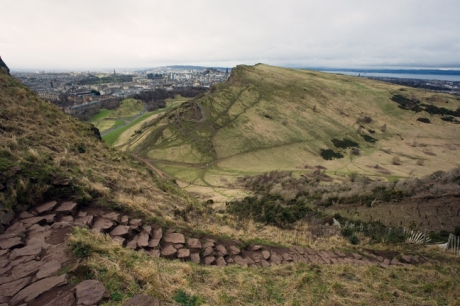 Gutted Haddie, Salisbury Crags, Edinburgh, Scotland, February 2012