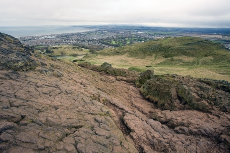 Arthur's Seat, Salisbury Crags, Edinburgh, Scotland, February 2012