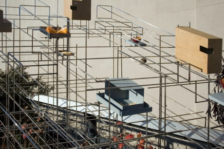 Model for a Habitat, High Line, Manhattan, New York, America, January 2012